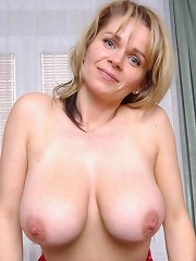 Busty blonde mature Timea showing off her juicy huge hooters^Only Big Melons Big Tits girl sex girls big tits boobs busty babe babes